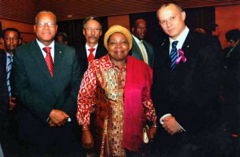 Ambassador Nourrice, Minister Adam, and Mrs Zuma at the AU Council of Ministers, April 2013
