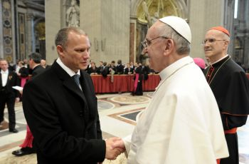 Minister Adam and Pope Francis, March 2013
