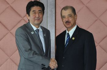 President Michel and Prime Minister Abe