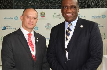 Minister Jean-Paul Adam and President of UNGA John W Ashe