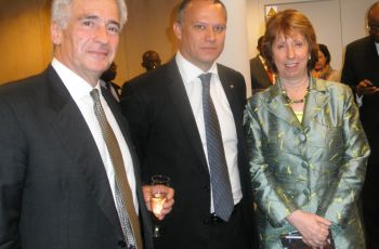 Minister jean-Paul Adam, Baroness Ashton,High Representative of the Union for Foreign Affairs and Security Policy for the European Union and Alexander Rondos, European Union Special Representative for the Horn of Africa