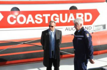 Minister Jean Paul Adam touring Maritime Police Unit in Auckland New Zealand