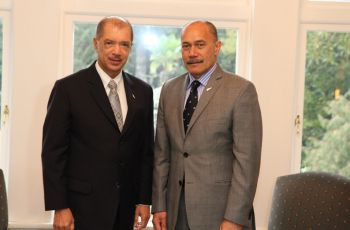 President James Alix MIchel with Governor General of New Zealand Sir Jerry Mateparae
