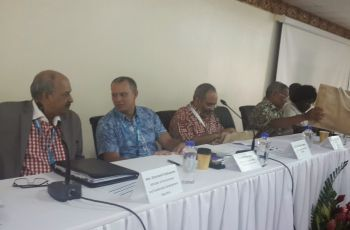 Minister Jean-Paul AdamThe United Nations Economic Commission for Africa a side event in the margins of the Small Island States meeting in Samoa, where Foreign Minister Jean-Paul Adam