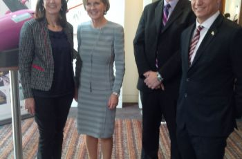 Minister Jean-Paul Adam and Minister for Foreign Affairs of Australia Julie Bishop