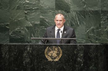 Minister for For Foreign Affairs Jean-Paul Adam addresses United Nations General Assembly